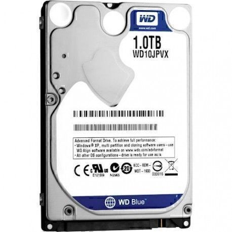"""WD Blue WD10JPVX 1 To - 2.5"""" - Interne - SATA - 5400trs/mn - Buffer 8 Mo (Neuf/Reconditionné)"""