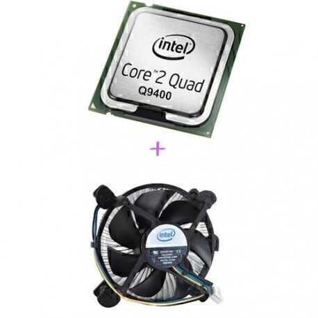 Intel Core 2 Quad Q9400 2.66 GHz + Ventilateur