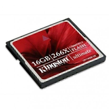 Kingston CompactFlash 16 Go Ultimate 266X (produit neuf mais emballage abîmé)