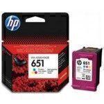 HP 651 300ページ シアン, マゼンタ, イエロー インクカートリッジ