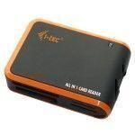 i-tec USBALL3 USB 2.0 Negro, Naranja lector de tarjeta