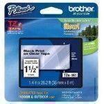 Brother TZe-161 Negro sobre transparente TZe cinta para impresora de etiquetas