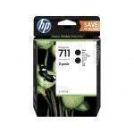 HP Pack de 2 cartouches d'encre 711, noir de 80 ml