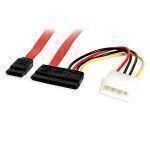 StarTech.com 18 inch Serial ATA Data Cable with LP4 Adapter Rosso cavo di interfaccia e adattatore