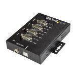 StarTech.com Adattatore Seriale Industriale RS-232 422 485 a 4 Porte USB - Protezione ESD 15kV perno e concentratore