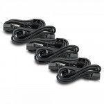 APC Power Cord Kit (6 ea), C19   C20 (90 degree), 1.8m 1.8m Nero cavo di alimentazione