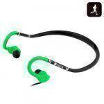 NGS Green Cougar auricolare per telefono cellulare Stereofonico Aggancio, Auricolare Nero, Verde Cablato