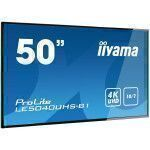 "iiyama LE5040UHS-B1 signage display 127 cm (50"") LED 4K Ultra HD Digital signage flat panel Black"