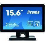 "iiyama ProLite T1633MC-B1 monitor touch screen 39,6 cm (15.6"") 1366 x 768 Pixel Nero Multi-touch Multi utente"