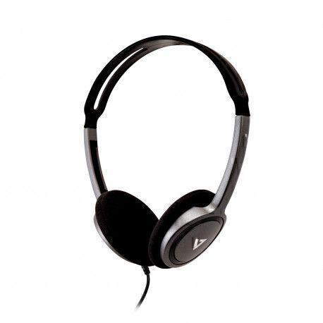 V7 HA310-2EP headphone Supraaural Head-band Black,Silver