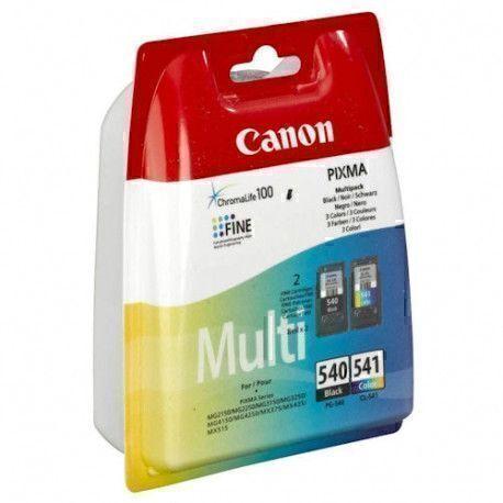 Canon PG-540/CL-541 - Noir, Cyan, Magenta, Jaune