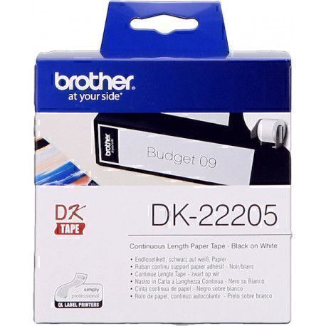 Brother DK22205 - 62mm x 30,48 m - Rectangle - Blanc
