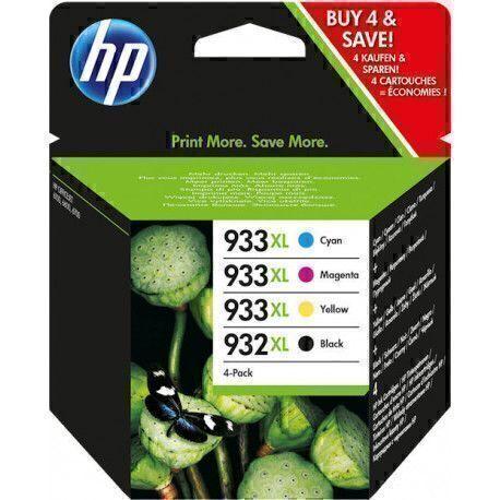 HP 932XL/933XL Original Combo pack - Jaune, Magenta, Noir, Cyan