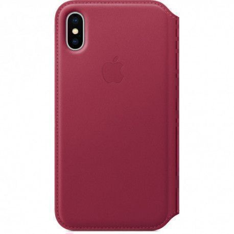 Apple Folio Style pour iPhone X, Facture, Notes, Carte - Baie - Cuir