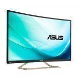 """华硕 VA326HR 电脑 平板显示器 80 cm (31.5"""") Full HD LED 弯曲 黑色, 银色"""