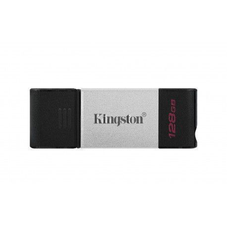 Kingston Technology DataTraveler 80 USB flash drive 128 GB USB Type-C 3.2 Gen 1 (3.1 Gen 1) Black,Silver