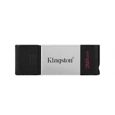 Kingston Technology DataTraveler 80 USB flash drive 32 GB USB Type-C 3.2 Gen 1 (3.1 Gen 1) Black,Silver