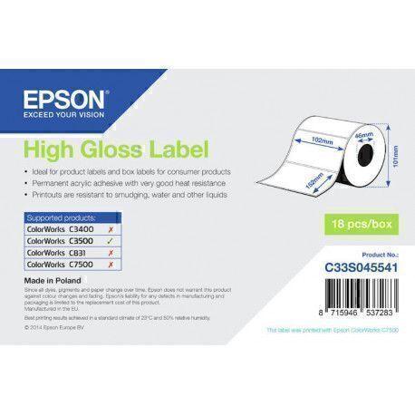 Epson - Etiquette polyvalente - 102 mm Largeur x 152 mm