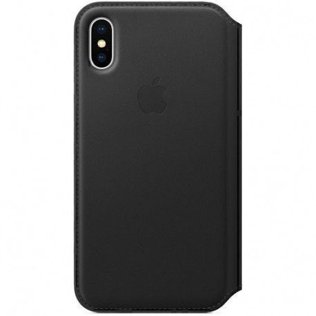 Apple Folio en cuir iPhone X - Coloris Noir