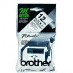 Brother Labelling Tape - 12mm, Black White, Blister label-making tape M