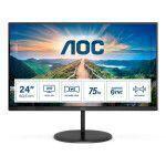 """AOC V4 Q24V4EA LED display 60.5 cm (23.8"""") 2560 x 1440 pixels 2K Ultra HD Black"""