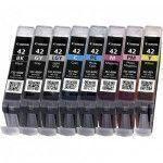 Canon CLI-42 BK C M Y PM PC GY LGY cartucho de tinta 8 pieza(s) Original Rendimiento estándar Negro, Cian, Gris, Gris claro,